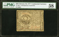 Continental Currency February 26, 1777 $30 Contemporary Counterfeit PMG Choice About Unc 58