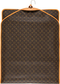 "Louis Vuitton Classic Monogram Canvas Garment Bag Condition: 3 24"" Width x 62"" Height x 0.5"" Depth"
