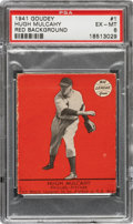 Baseball Cards:Singles (1940-1949), 1941 Goudey Hugh Mulcahy (Red) # 1 PSA EX-MT 6 - Pop One, None Higher! ...