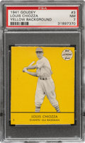 Baseball Cards:Singles (1940-1949), 1941 Goudey Louis Chiozza (Yellow) #3 PSA NM 7 - Pop One, None Higher! ...