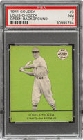 Baseball Cards:Singles (1940-1949), 1941 Goudey Louis Chiozza (Green) #3 PSA NM 7 - Pop Four, None Higher! ...