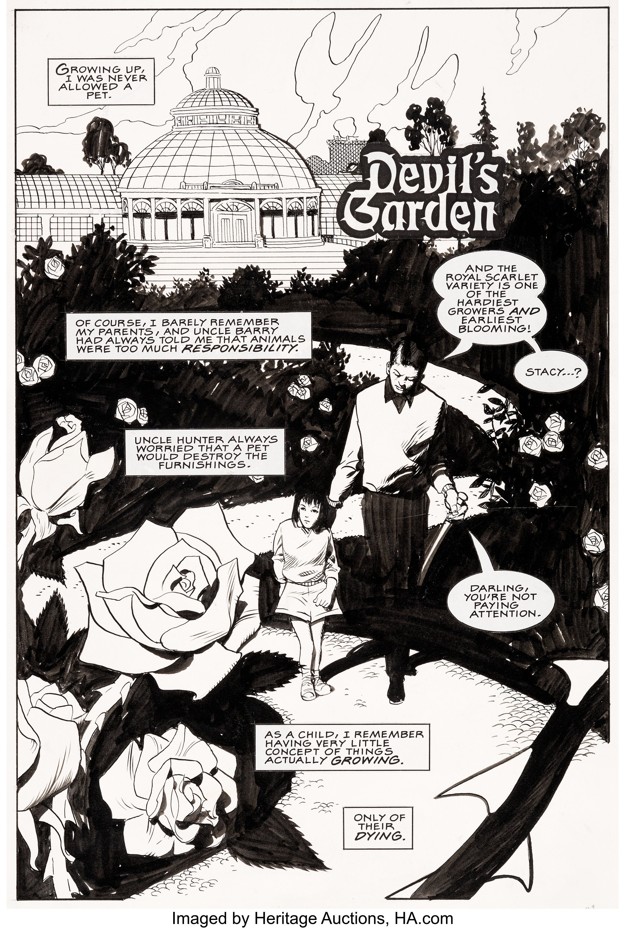 Paul Chadwick Grendel Black White And Red 2 Complete 8 Page Lot 95053 Heritage Auctions