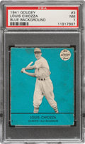 Baseball Cards:Singles (1940-1949), 1941 Goudey Louis Chiozza (Blue) #3 PSA NM 7 - Pop Two, None Higher! ...