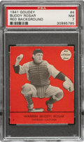 Baseball Cards:Singles (1940-1949), 1941 Goudey Warren Buddy Rosar (Red) #4 PSA NM 7 - Pop Two, None Higher! ...