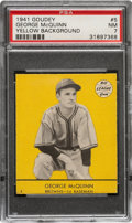 Baseball Cards:Singles (1940-1949), 1941 Goudey George McQuinn (Yellow) #5 PSA NM 7 - Pop One, None Higher! ...