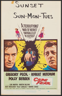 "Cape Fear & Other Lot (Universal International, 1962). Folded, Very Fine-. Window Cards (2) (14"" X 22""). T..."
