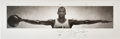Basketball Collectibles:Photos, 1997 Michael Jordan Signed Oversized Wings Upper Deck Authenticated Poster ...