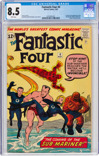 Fantastic Four #4 (Marvel, 1962) CGC VF+ 8.5 White pages