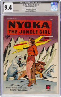 Nyoka the Jungle Girl #7 Mile High Pedigree (Fawcett Publications, 1947) CGC NM 9.4 White pages