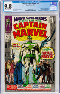 Silver Age (1956-1969):Superhero, Marvel Super-Heroes #12 Captain Marvel (Marvel, 1967) CGC NM/MT 9.8 Off-white to white pages....
