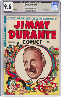 Jimmy Durante #1 Mile High Pedigree (Magazine Enterprises, 1948) CGC NM+ 9.6 White pages