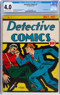 Detective Comics #5 (DC, 1937) CGC VG 4.0 Cream to off-white pages
