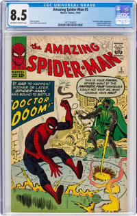 The Amazing Spider-Man #5 (Marvel, 1963) CGC VF+ 8.5 Off-white to white pages