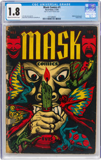 Mask Comics #1 (Rural Home, 1945) CGC GD- 1.8 Cream to off-white pages