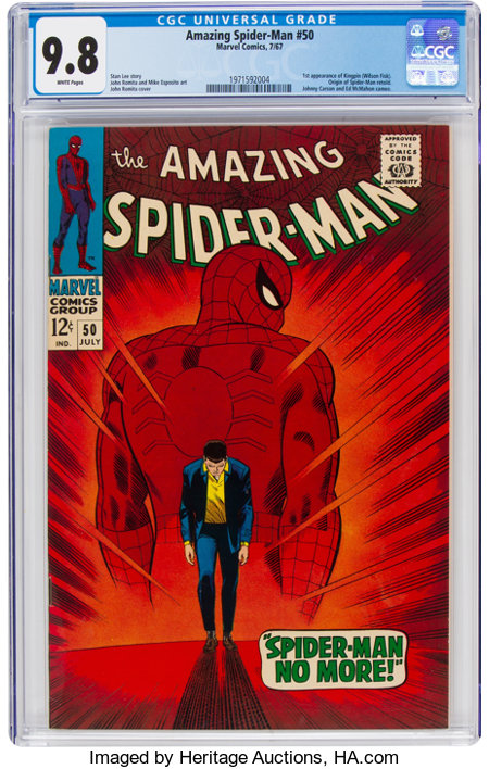 The Amazing Spider-Man #50 (Marvel, 1967) CGC NM/MT 9.8 White pages....