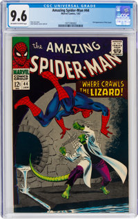 The Amazing Spider-Man #44 (Marvel, 1967) CGC NM+ 9.6 Off-white to white pages