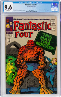 Fantastic Four #51 (Marvel, 1966) CGC NM+ 9.6 White pages