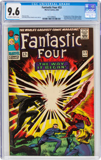 Fantastic Four #53 (Marvel, 1966) CGC NM+ 9.6 Off-white to white pages