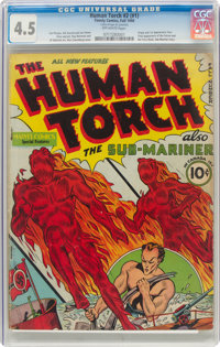 The Human Torch #2 (#1) (Timely, 1940) CGC VG+ 4.5 Off-white pages