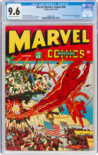 Marvel Mystery Comics #48 (Timely, 1943) CGC NM+ 9.6 Off-white to white pages