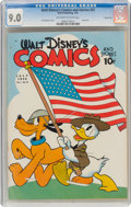 Golden Age (1938-1955):Cartoon Character, Walt Disney's Comics and Stories #22 Carson City Pedigree (Dell, 1942) CGC VF/NM 9.0 Off-white to white pages....