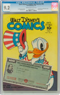 Golden Age (1938-1955):Cartoon Character, Walt Disney's Comics and Stories #46 (Dell, 1944) CGC NM- 9.2 Cream to off-white pages....