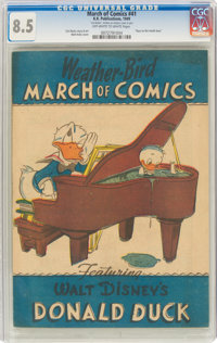 March of Comics #41 Donald Duck (K. K. Publications, Inc., 1949) CGC VF+ 8.5 Off-white to white pages