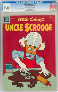 Uncle Scrooge #14 (Dell, 1956) CGC NM+ 9.6 Off-white to white pages