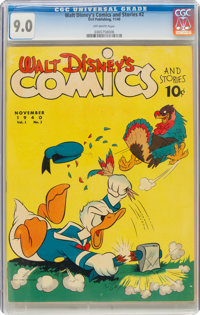 Walt Disney's Comics and Stories #2 (Dell, 1940) CGC VF/NM 9.0 Off-white pages