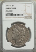 1892-CC $1 -- Cleaned -- NGC Details. Fine. Mintage 1,352,000....(PCGS# 7214)