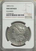 Morgan Dollars, 1895-O $1 -- Cleaned -- NGC Details. Fine. Mintage 450,000....