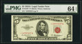 Small Size:Legal Tender Notes, Fr. 1533* $5 1953A Legal Tender Note. PMG Choice Uncirculated 64 EPQ.. ...