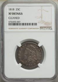 1818 25C -- Cleaned -- NGC Details. XF. Mintage 361,174. ...(PCGS# 5322)