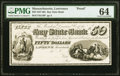 Lawrence, MA- Bay State Bank $50 18__ G16 Proof PMG Choice Uncirculated 64