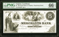 Lynchburg, VA- Merchants Bank of Virginia $8 18__ as G8 as Jones-Littlefield BL40-35 Proprietary Proof PMG Gem Uncircula...