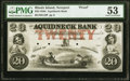 Obsoletes By State:Rhode Island, Newport, RI- Aquidneck Bank $20 18__ as G10 as Durand 512 Proof PMG About Uncirculated 53.. ...