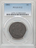 Large Cents: , 1802 1C Fine 12 PCGS. PCGS Population: (68/599). NGC Census: (29/233). CDN: $200 Whsle. Bid for NGC/PCGS Fine 12. Mintage 3...