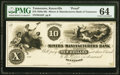 Knoxville, TN- Miners and Manufacturers Bank of Tennessee $10 18__ G22 as Garland 466 S-C K-B.M&M-10-1Pf Proof P...