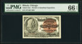 """World's Columbian Exposition Lincoln """"A"""" Ticket 1893 PMG Gem Uncirculated 66 EPQ"""