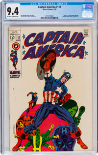 Captain America #111 (Marvel, 1969) CGC NM 9.4 Off-white to white pages