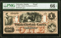 Omaha, NE (Terr)- Omaha City Bank and Land Co. $1 18__ as G2a Proof PMG Gem Uncirculated 66 EPQ