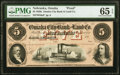 Omaha, NE (Terr)- Omaha City Bank and Land Co. $5 18__ as G6a Proof PMG Gem Uncirculated 65 EPQ