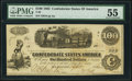 T39 $100 1862 PMG About Uncirculated 55