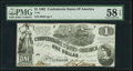Confederate Notes:1862 Issues, T44 $1 1862 PMG Choice About Unc 58 EPQ.. ...