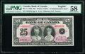 World Currency, Canada Bank of Canada $25 6.5.1935, English BC-11 Commemorative PMG Choice About Unc 58.. ...