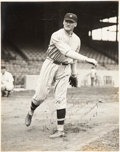 Baseball Collectibles:Photos, 1924 Walter Johnson Signed Photograph Dating to Game Seven of World Series!...