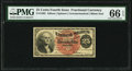 Fractional Currency:Fourth Issue, Fr. 1302 25¢ Fourth Issue PMG Gem Uncirculated 66 EPQ.. ...