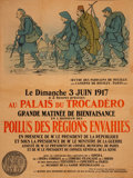 Prints & Multiples, French WWI Lithograph Poster, circa 1917. Signed: A. Barrère, Somme 1917. 58-1/4 x 44 inches (148.0 x 111.8 cm). 68 x 53...