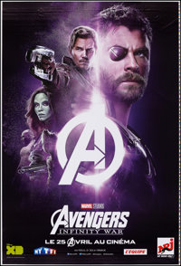 "Avengers: Infinity War (Walt Disney Pictures, 2018). Rolled, Very Fine. Printer's Proof French Poster (46.75"" X 69&..."