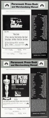 """The Godfather & Other Lot (Paramount, 1972). Fine/Very Fine. Uncut Pressbooks (Multiple Pages, 12.5"""" X 15""""..."""
